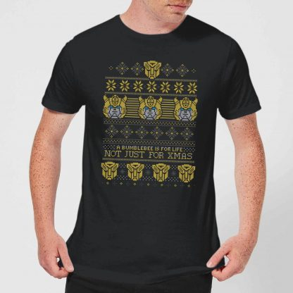 Bumblebee Classic Ugly Knit Men's Christmas T-Shirt - Black - XS - Noir chez Casa Décoration