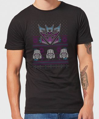 Decepticons Classic Ugly Knit Men's Christmas T-Shirt - Black - XS - Noir chez Casa Décoration