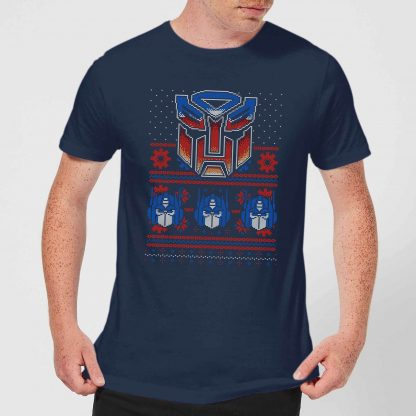 Autobots Classic Ugly Knit Men's Christmas T-Shirt - Navy - XS - Navy chez Casa Décoration