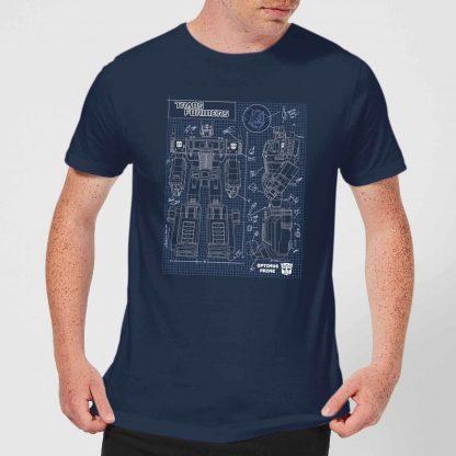 Transformers Optimus Prime Schematic Men's T-Shirt - Navy - XS - Navy chez Casa Décoration