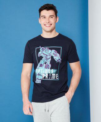 Transformers Optimus Prime Neon T-Shirt - Navy - XS - Navy chez Casa Décoration