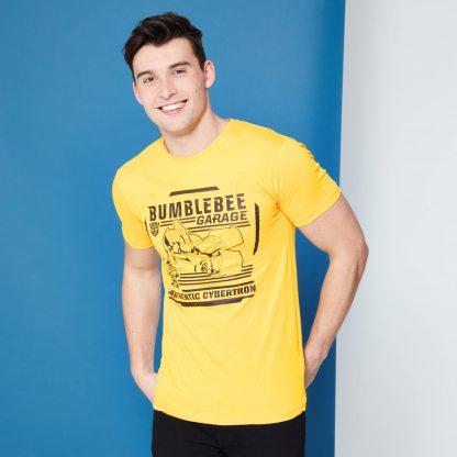 Transformers Bumblebee Garage T-Shirt - Jaune - XS - Citron chez Casa Décoration