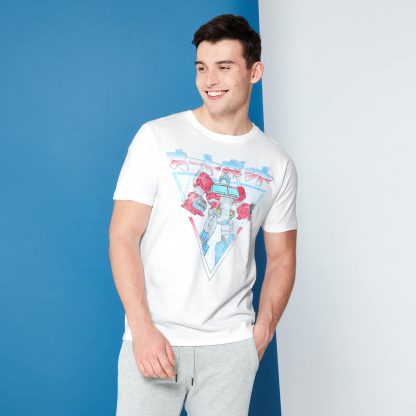 Transformers Optimus Prime Rétro Japonais T-Shirt - Blanc - XS chez Casa Décoration