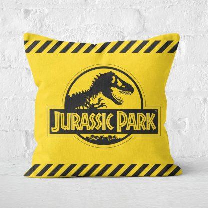 Jurassic Park Tape Square Cushion - 60x60cm - Soft Touch chez Casa Décoration