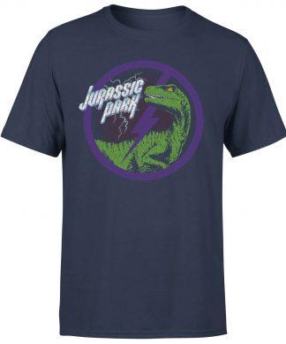 T-shirt Jurassic Park Raptor Bolt - Bleu Marine - Homme - XS chez Casa Décoration