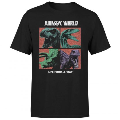 T-shirt Jurassic Park World Four Colour Faces - Noir - Homme - XS chez Casa Décoration