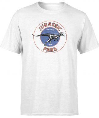 T-shirt Jurassic Park Jurassic Target - Blanc - Homme - XS chez Casa Décoration
