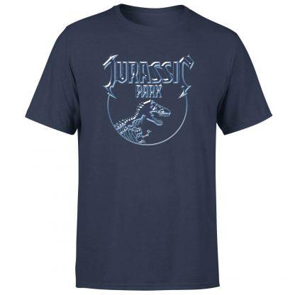 T-shirt Jurassic Park Logo Metal - Bleu Marine - Homme - XS chez Casa Décoration