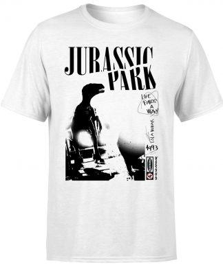 T-shirt Jurassic Park Isla Nublar Punk - Blanc - Homme - XS chez Casa Décoration
