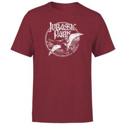 T-shirt Jurassic Park Flying Threat - Bordeaux - Homme - XS chez Casa Décoration