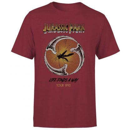 T-shirt Jurassic Park Life Finds A Way Tour - Bordeaux - Unisexe - XS chez Casa Décoration