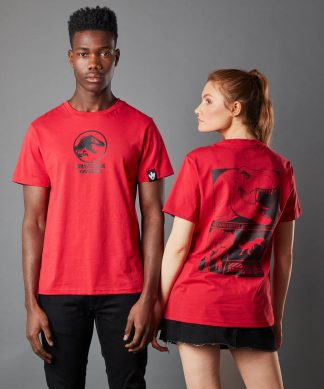 T-shirt Jurassic Park Primal T-Rex - Rouge - Unisexe - XS - Rouge chez Casa Décoration