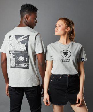 T-shirt Jurassic Park Primal Triceratops - Gris - Unisexe - XS - Gris chez Casa Décoration