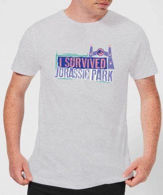 Jurassic Park I Survived Jurassic Park Men's T-Shirt - Grey - XS - Gris chez Casa Décoration