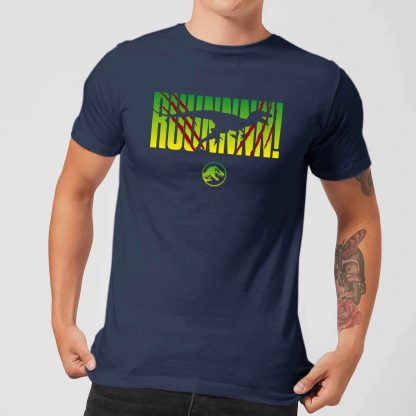 Jurassic Park Run! Men's T-Shirt - Navy - XS - Navy chez Casa Décoration