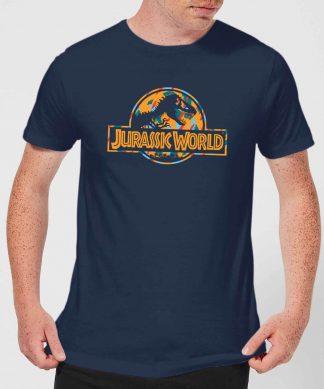 Jurassic Park Logo Tropical Men's T-Shirt - Navy - XS - Navy chez Casa Décoration