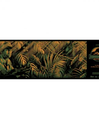 Sérigraphie Jurassic Park Clever Girl - 36 x 12 inch - Par Nos4a2 Design chez Casa Décoration