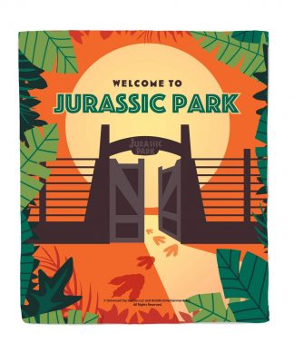 Plaid Jurassic Park Portes d'Entrée - M chez Casa Décoration