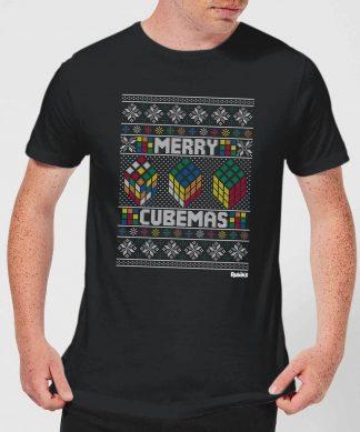 T-Shirt de Noël Homme Rubiks Merry Cubemas - Noir - XS - Noir chez Casa Décoration
