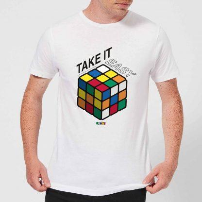 Take It Easy Rubik's Cube Men's T-Shirt - White - XS - Blanc chez Casa Décoration