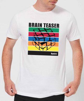 Rubik's Brain Teaser Men's T-Shirt - White - XS - Blanc chez Casa Décoration
