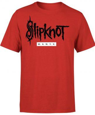 Slipknot W.A.N.Y.K T-Shirt - Red - XS chez Casa Décoration