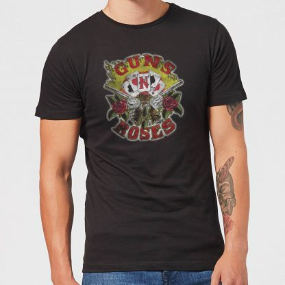 Guns N Roses Cards Men's T-Shirt - Black - XS - Noir chez Casa Décoration