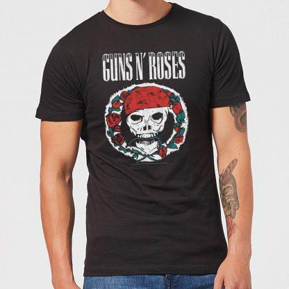 Guns N Roses Circle Skull Men's T-Shirt - Black - XS chez Casa Décoration