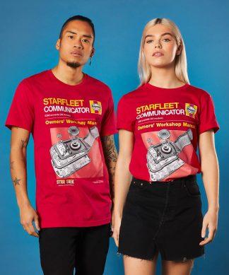 Star Trek Haynes - Communicator T-Shirt - Red - XS - Rouge chez Casa Décoration