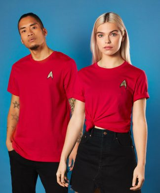 Star Trek - T-shirt Brodé Operations Badge - Rouge - Unisexe - XS - Rouge chez Casa Décoration