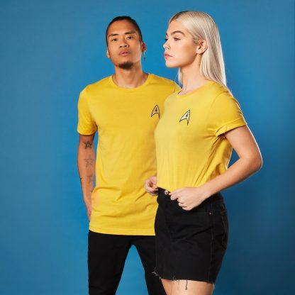 Star Trek - T-shirt Brodé Commander Badge - Jaune - Unisexe - XS - Citron chez Casa Décoration