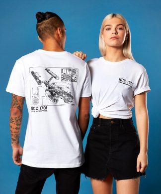 Star Trek - T-shirt NCC 1701 - Blanc - Unisexe - XS - Blanc chez Casa Décoration