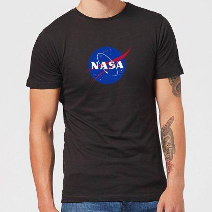 T-Shirt Homme NASA Logo Insignia - Noir - XS - Noir chez Casa Décoration