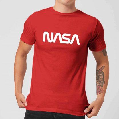 T-Shirt Homme NASA Worm Logotype - Rouge - XS chez Casa Décoration