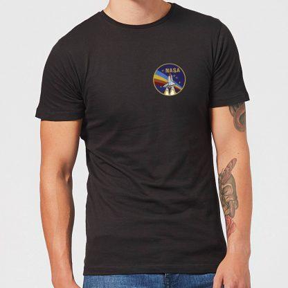 T-Shirt Homme NASA Vintage Rainbow Shuttle - Noir - XS chez Casa Décoration