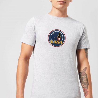 T-Shirt Homme NASA JM Patch - Gris - XS - Gris chez Casa Décoration