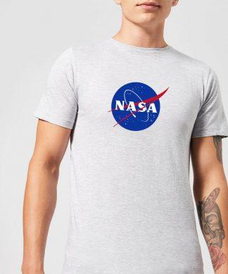 T-Shirt Homme NASA Logo Insignia - Gris - XS - Gris chez Casa Décoration