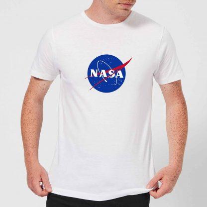 T-Shirt Homme NASA Logo Insignia - Blanc - XS chez Casa Décoration