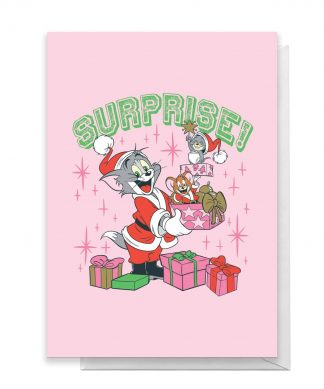 Tom And Jerry Surprise! Greetings Card - Large Card chez Casa Décoration