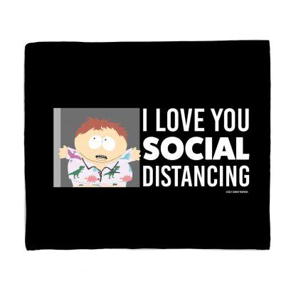 South Park I Love You Social Distancing Bed Throw chez Casa Décoration