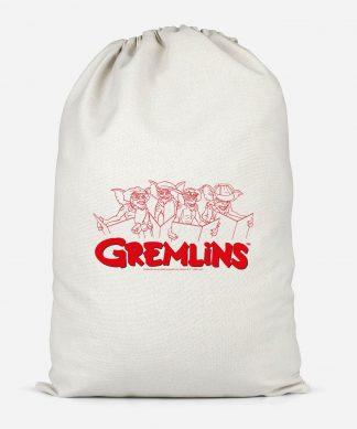 Gremlins Christmas Carolling Cotton Storage Bag - Large chez Casa Décoration