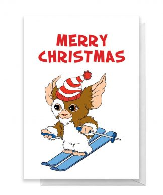 Gremlins Merry Christmas Skiing Greetings Card - Large Card chez Casa Décoration