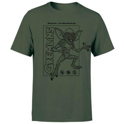 Gremlins Stripe Men's T-Shirt - Forest Green - XS chez Casa Décoration