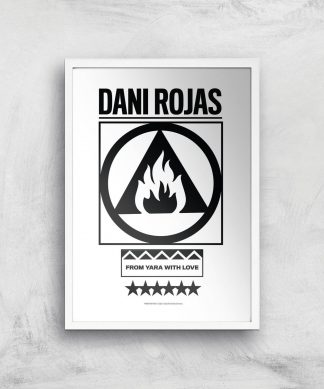 Far Cry 6 Dani Rojas Giclee Art Print - A4 - White Frame chez Casa Décoration
