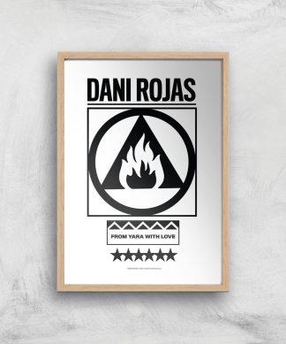 Far Cry 6 Dani Rojas Giclee Art Print - A3 - Wooden Frame chez Casa Décoration