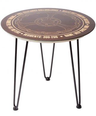Decorsome x Star Trek Starfleet Deep Space Nine Wooden Side Table - Doré chez Casa Décoration